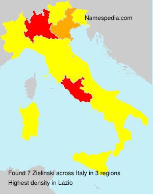 Surname Zielinski in Italy