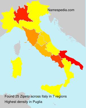 Surname Zipeto in Italy