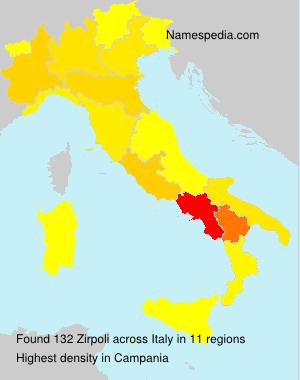 Surname Zirpoli in Italy