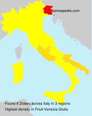 Familiennamen Zlobec - Italy