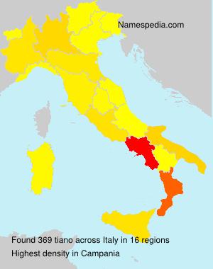 Familiennamen tiano - Italy