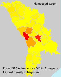 Surname Adam in Moldova