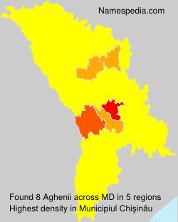 Surname Aghenii in Moldova