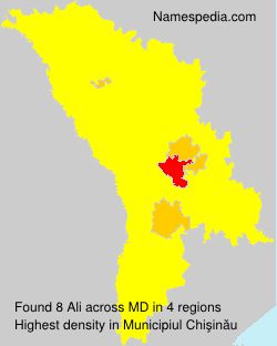Familiennamen Ali - Moldova