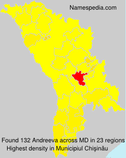 Surname Andreeva in Moldova