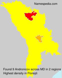 Surname Andronicov in Moldova