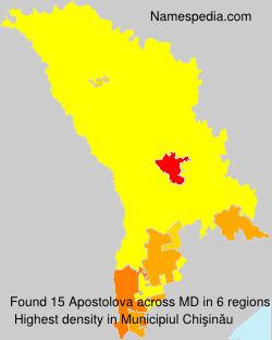 Surname Apostolova in Moldova