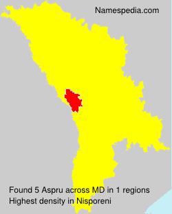 Familiennamen Aspru - Moldova