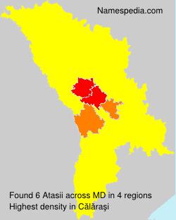 Surname Atasii in Moldova