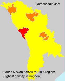 Surname Axan in Moldova