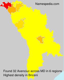 Surname Axenciuc in Moldova