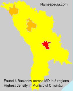 Surname Baclanov in Moldova