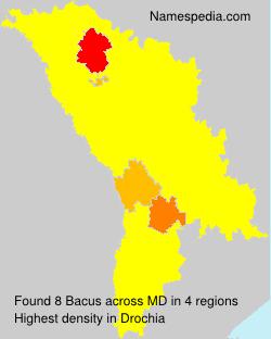 Familiennamen Bacus - Moldova