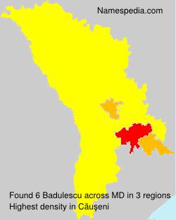 Surname Badulescu in Moldova
