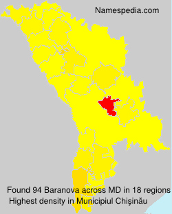Familiennamen Baranova - Moldova
