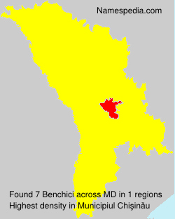 Surname Benchici in Moldova