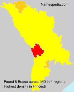 Surname Boaca in Moldova