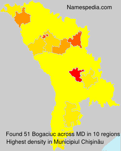 Surname Bogaciuc in Moldova