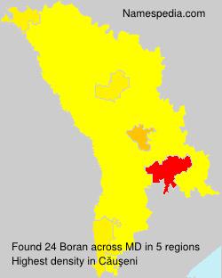 Surname Boran in Moldova