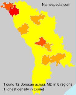 Familiennamen Borosan - Moldova