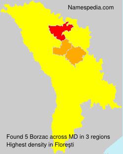 Familiennamen Borzac - Moldova
