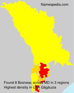 Familiennamen Bosneac - Moldova