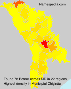 Surname Botnar in Moldova