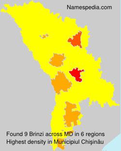 Surname Brinzi in Moldova