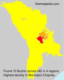 Familiennamen Buchin - Moldova