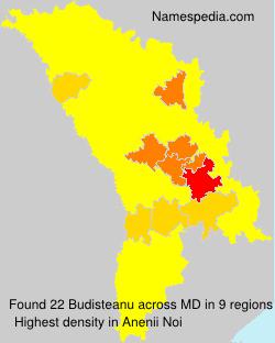 Surname Budisteanu in Moldova