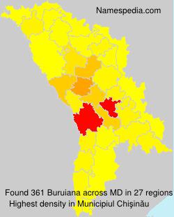 Surname Buruiana in Moldova