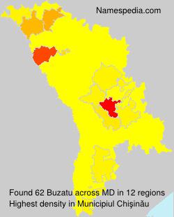 Surname Buzatu in Moldova
