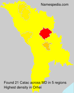 Surname Catac in Moldova