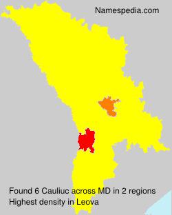 Surname Cauliuc in Moldova