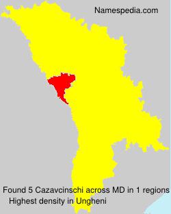 Familiennamen Cazavcinschi - Moldova
