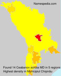 Familiennamen Ceabanov - Moldova