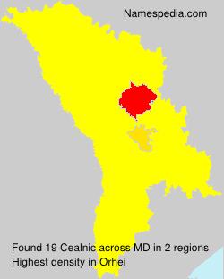 Familiennamen Cealnic - Moldova