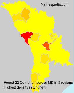 Familiennamen Cemurtan - Moldova