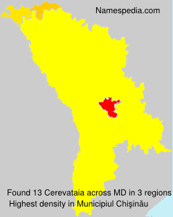 Familiennamen Cerevataia - Moldova
