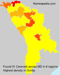 Familiennamen Cerevatii - Moldova