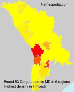 Familiennamen Cerguta - Moldova