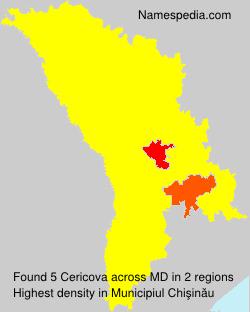 Familiennamen Cericova - Moldova