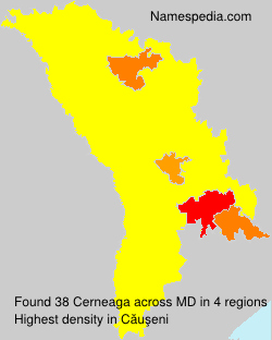 Surname Cerneaga in Moldova