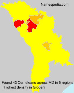 Surname Cerneleanu in Moldova