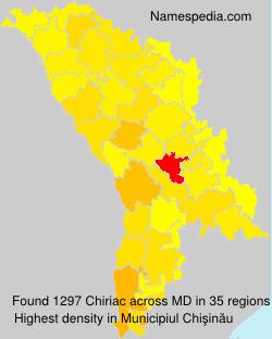 Familiennamen Chiriac - Moldova