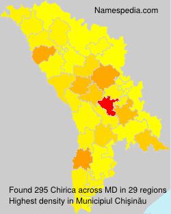 Surname Chirica in Moldova