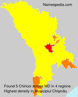 Familiennamen Chiricoi - Moldova