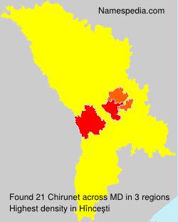 Surname Chirunet in Moldova