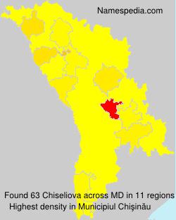 Familiennamen Chiseliova - Moldova