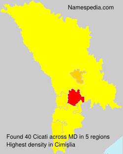 Familiennamen Cicati - Moldova